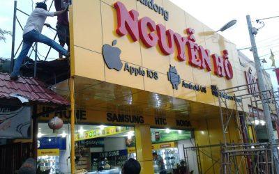 Làm bảng hiệu alu tại TP Hà Nội giá rẻ 500k/m2